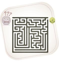 Monster maze vector image vector image