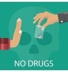 No drugs concept vector image