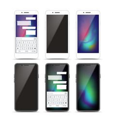 smartphone mockup set design black and vector image vector image
