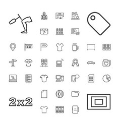 37 blank icons vector