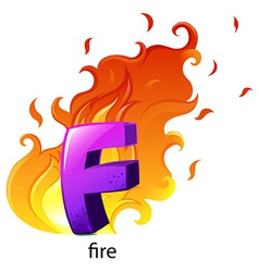 A letter F for fire vector