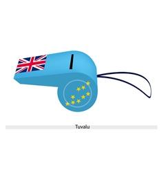 A Light Blue Whistle of Tuvalu Flag vector