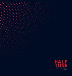 abstract red neon color halftone pattern on dark vector image
