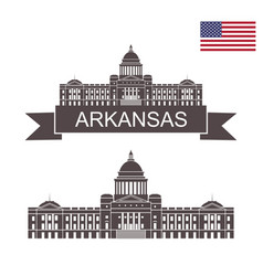 arkansas vector image