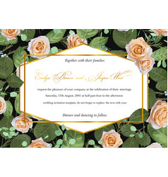 beautiful designer flower card wedding vector image