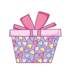Birthday giftbox cartoon vector