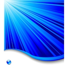 blue banner template - ray background vector image