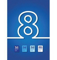 Blue number vector