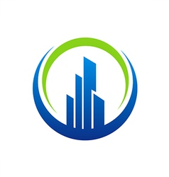 building city construction logo vector image