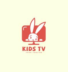 bunny logo vector image