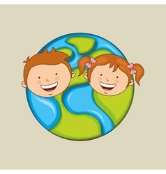 Children around the world design vector