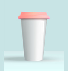Coffee cup white mockup vector