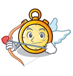 cupid chronometer character cartoon style vector image