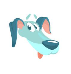 Cute purebred dachshund vector