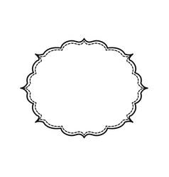 decorative frame bannner vector image