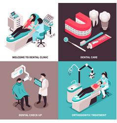 Dental clinic design concept vector