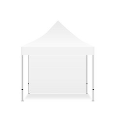 display tent mockup with one wall vector image