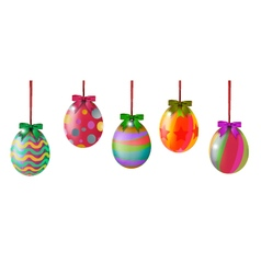 easter eggs hinging vector image