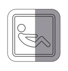 Figure person doing sit-ups icon vector