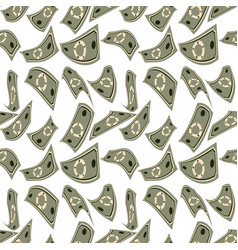 flat seamless pattern abstract paper money vector image