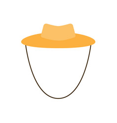 garden or cowboy hat of a vector image