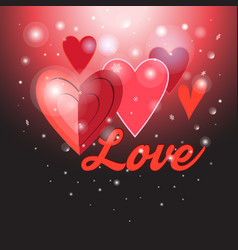 greeting background with hearts vector image