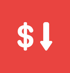 icon concept of dollar symbol with arrow moving vector image