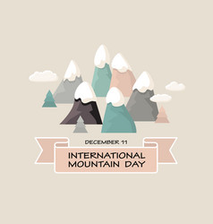 international mountain day vector image