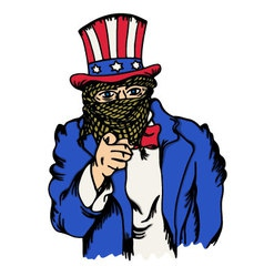 Isolated cartoon the fake doppelganger uncle sam vector