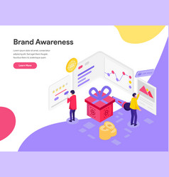 Landing page template brand awareness concept vector