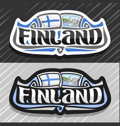 Logo for finland vector