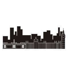 london cityscape silhouette vector image