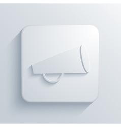 modern loudspeaker light icon vector image