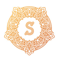 monogram s bage logo text vector image