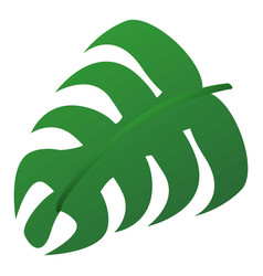 Monstera leaf icon cartoon style vector