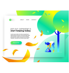 nature help online web landing page template vector image
