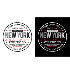 new york typography design t shirt vector image