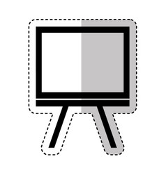 Paper board training isolated icon vector