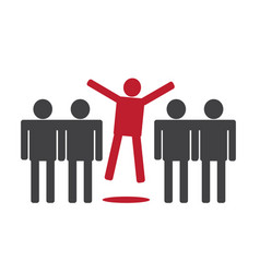 people icons think different idea vector image