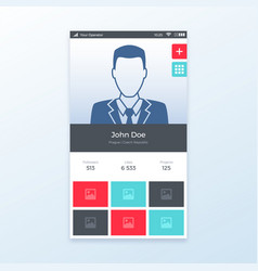 Personal profile ui app design vector