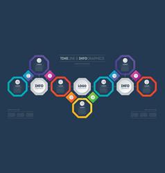 presentation template business development vector image