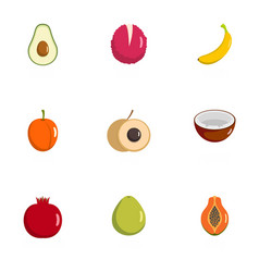 Produce icons set flat style vector