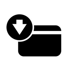 receive a credit card payment vector image