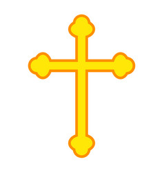 religion cross flat icon easter and holiday vector image