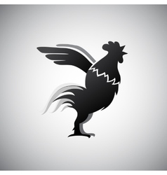 Rooster as Chinese zodiac sign vector image