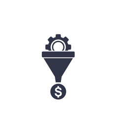 sales funnel icon on white vector image