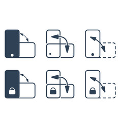 Smartphone orientation change and lock icon vector