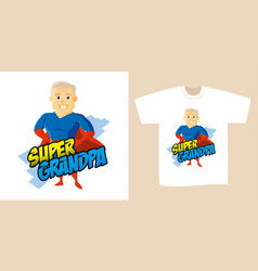 superhero cartoon character vector image