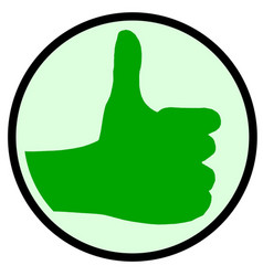 The green thumbs up sign vector