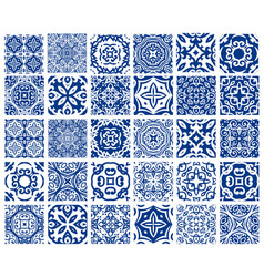 Tiles patterns set vector
